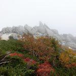 砂払山山頂から望む薬師岳