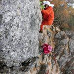 岩登りの練習