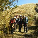 黄金の登山道にて