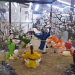 梅花の宴のジオラマ