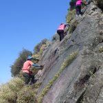 国見山への岩登り