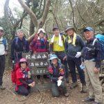 松尾山山頂にて