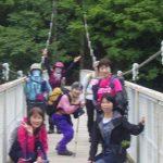菊水山への吊橋にて