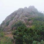 この岩場を登ったら山頂