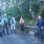 十勝温泉から登り始めます